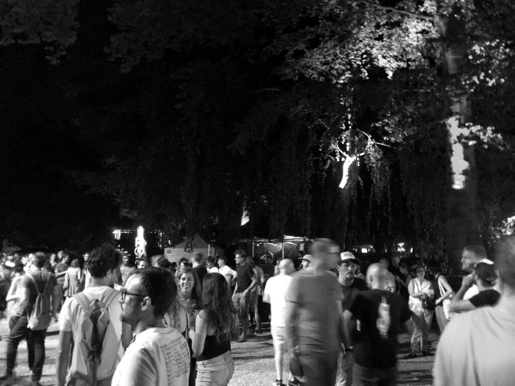 Besucher am ROAM Festival